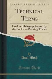 Technical Terms by Axel Moth