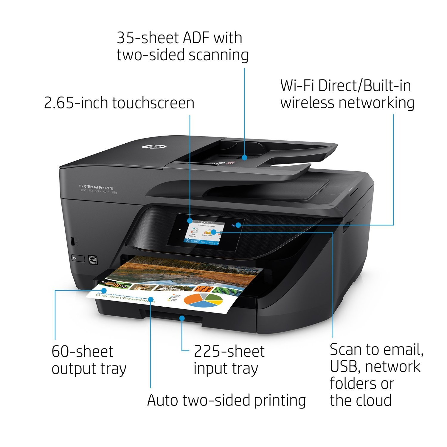 hp officejet pro 6960 all in one printer images at mighty ape nz. Black Bedroom Furniture Sets. Home Design Ideas