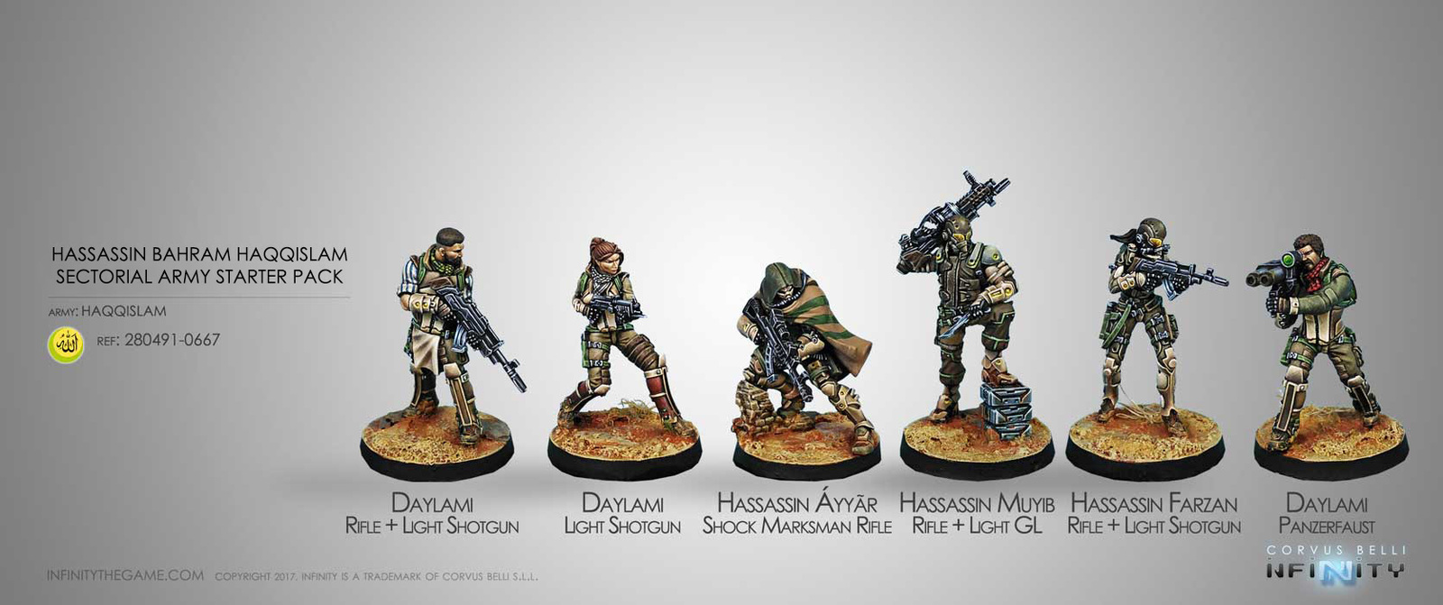 Infinity: Hassassin Bahram Sectorial Army Starter Pack image