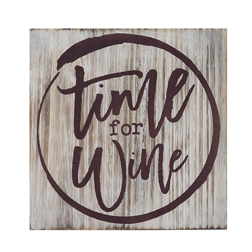 Grapevine: Time For Wine - Decorative Plaque