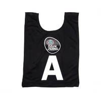 Mother Earth futureFERNS Netball Year 5&6 Bibs (Black)