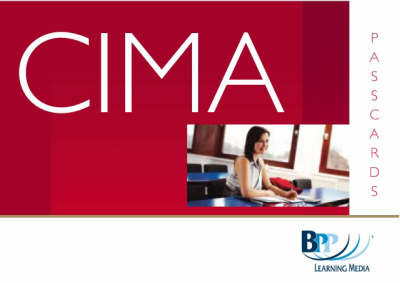 CIMA - P7: Financial Accounting and Tax Principles: Passcards: Managerial paper P7 by BPP Learning Media image
