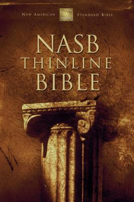 NASB, Thinline Bible, Leathersoft, Black/Tan, Red Letter Edition by Zondervan image