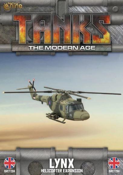 TANKS Modern UK Lynx Helicopter