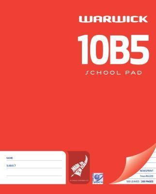 Warwick 10B5 100lf 7mm Ruled Newsprint Pad