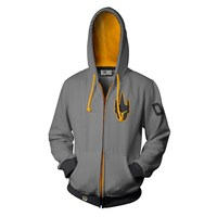 Overwatch Ultimate Reinhardt Zip-Up Hoodie (X-Large)