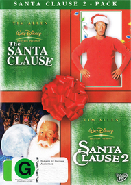 Santa Clause 2-Pack (Santa Clause / Santa Clause 2) (2 Disc Set) on DVD image