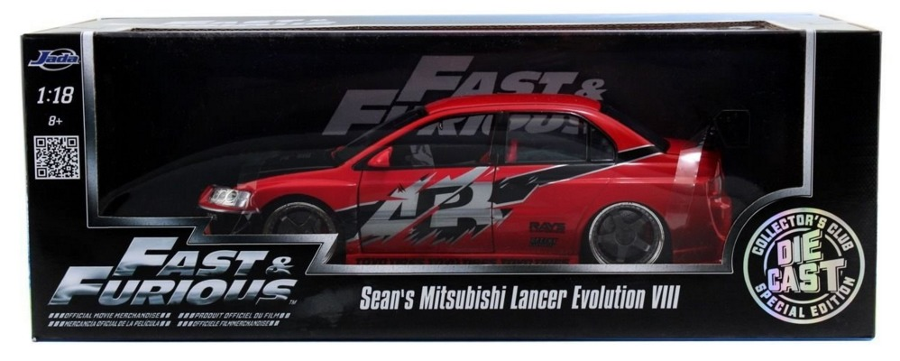 Jada: 1/18 Sean's Lancer Evo 8 - Diecast Model image