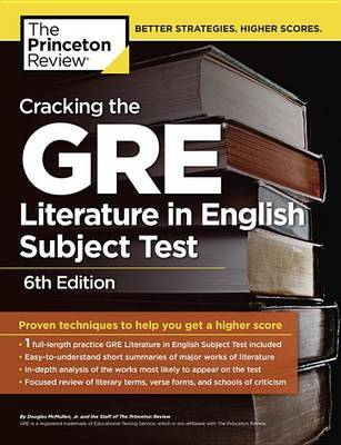 Cracking The Gre Literature In English Subject Test, 6Th Edition by Princeton Review image