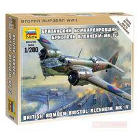 Zvezda 1/200 British Bomber Bristol Blenheim Scale Model Kit