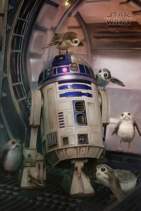 Star Wars The Last Jedi Maxi Poster - R2-D2 & Porgs (699)