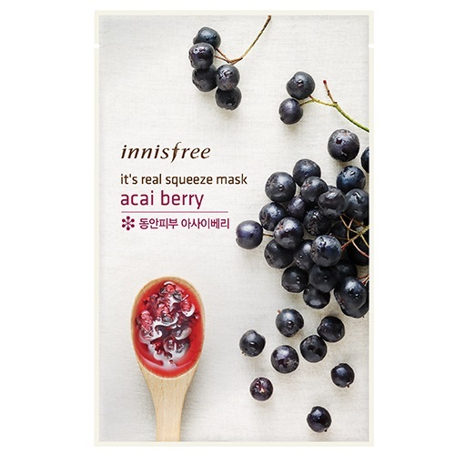 Innisfree - My Real Squeeze Sheet Mask - Acai Berry (20ml) image