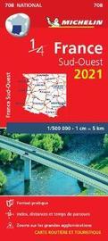 Southwestern France 2021 - Michelin National Map 708
