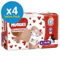 Huggies Essentials Nappies Bulk Value Box -Size 4 Toddler (184)