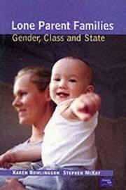 Lone Parent Families by Karen Rowlingson image