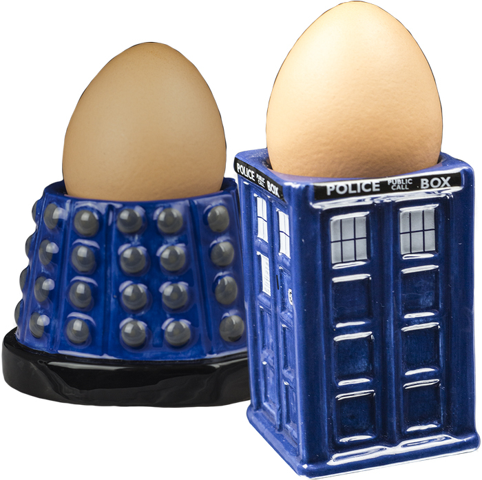 Doctor Who TARDIS & Dalek Egg Cup Set image