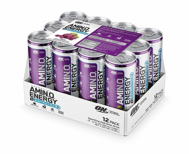 Optimum Nutrition Amino Energy Sparkling RTD - Grape (12x355ml)
