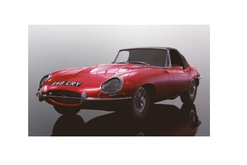 Scalextric: Jaguar E Type (Red) - Slot Car