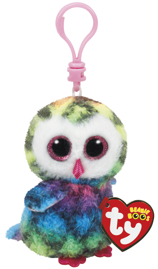 Ty Beanie Boos: Owen Owl - Clip On Plush image
