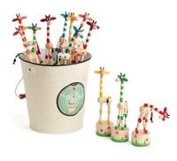 Jack Rabbit Creations: Push Puppet Giraffes - (Assorted Colours)