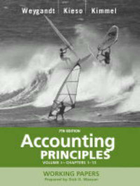 Accounting Principles: v. 1: Working Papers, Chapters 1-13 by Jerry J. Weygandt image