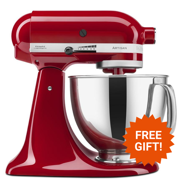 KitchenAid: Stand Mixer - Empire Red + BONUS Attachment
