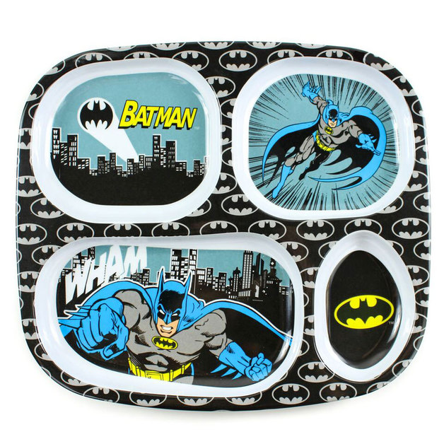 Bumkins: Melamine Divided Plate - Batman