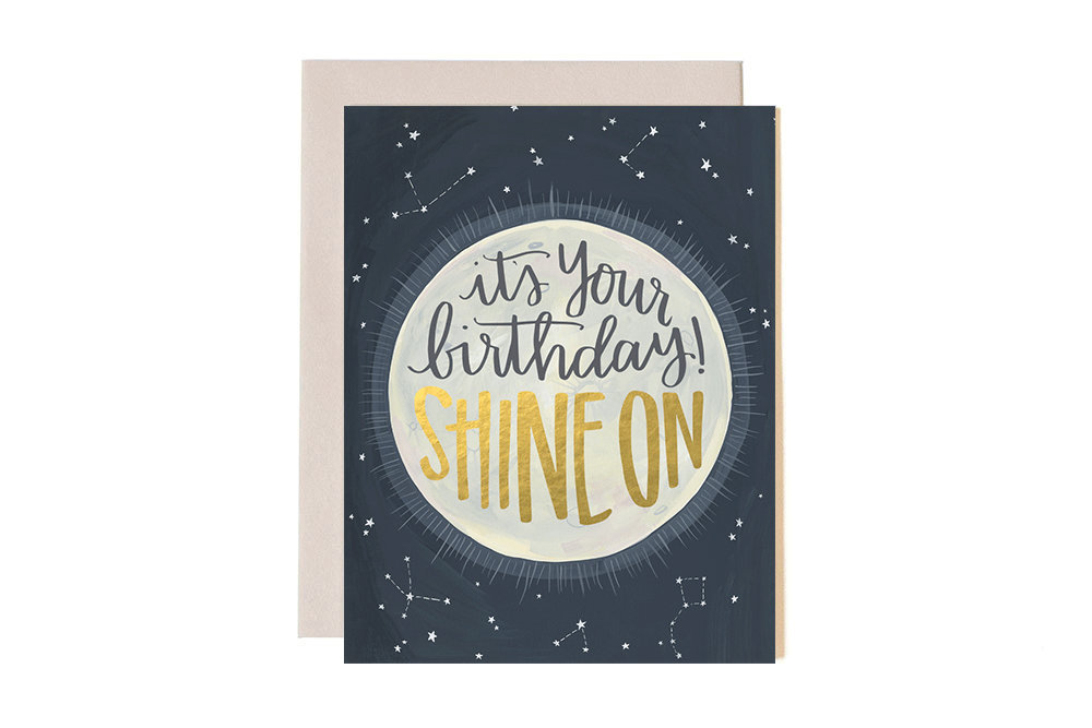 One Canoe Two: Shine On Birthday - Greeting Card image