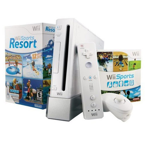 Nintendo Wii Console White with Wii Sports and Wii Sports Resort for Nintendo Wii image