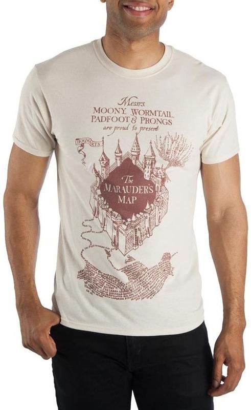 Harry Potter: Marauders Map - Men's T-Shirt (Large)