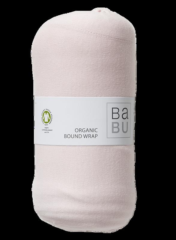 Babu: Organic Cotton Bound Wrap - (Shell Pink)