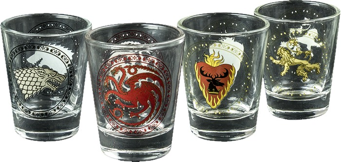 Game of Thrones - House Sigil Shot Glass Set of 4 image