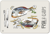 Fish and Chips Serving Mats (Set of 2)