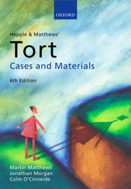 Hepple and Matthews' Tort by Martin Matthews image