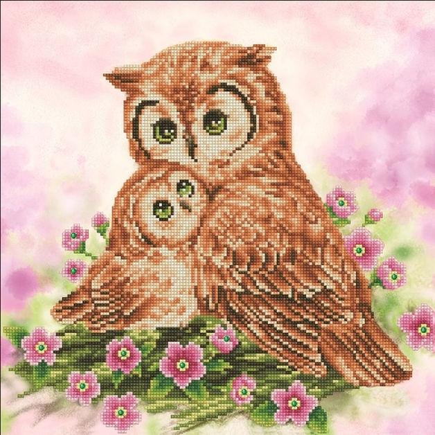 Diamond Dotz: Facet Art Kit - Mother & Baby Owl