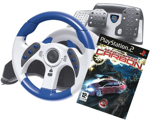 Need for Speed Carbon + Mad Catz Racing Wheel for PlayStation 2 image