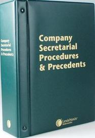 Butterworths Company Secretarial Procedures and Precedents by Kelly Millar