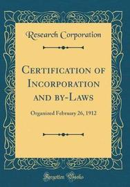 Certification of Incorporation and By-Laws by Research Corporation image
