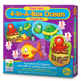 Step Ups! 4-In-A-Box Puzzles - Ocean