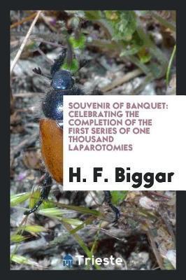 Souvenir of Banquet by H F Biggar