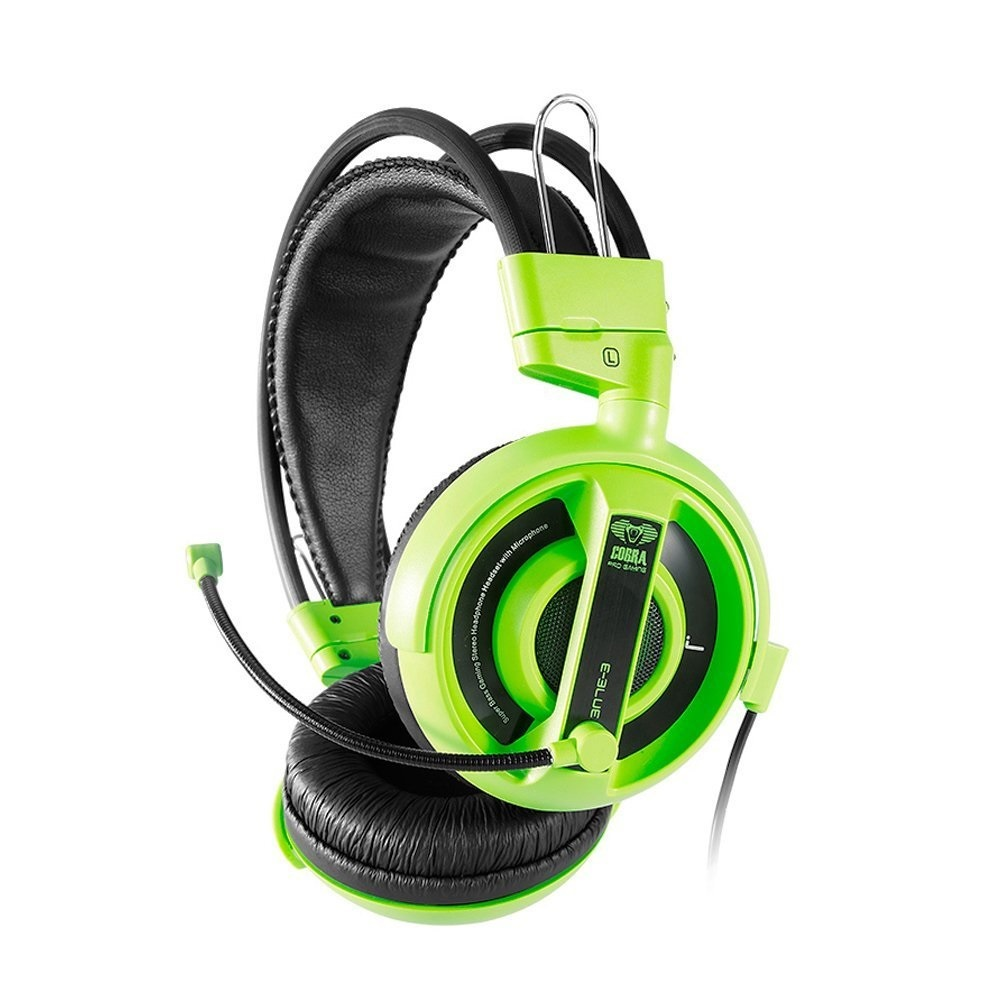E Blue Cobra Gaming Headset Green Pc Game On Sale Now At Mousepad Type M For Games Image