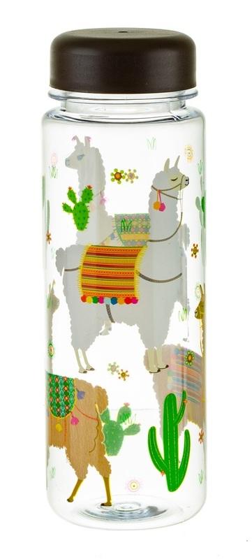 Sass & Belle: Lima Llama - Clear Water Bottle (550ml)