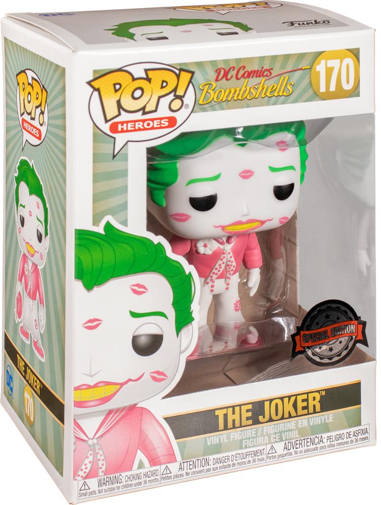 DC Bombshells: Joker with Kisses (Pink & White) - Pop! Vinyl Figure image