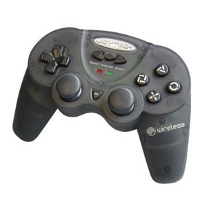 Joytech Wireless Analog Controller - Black for PlayStation 2