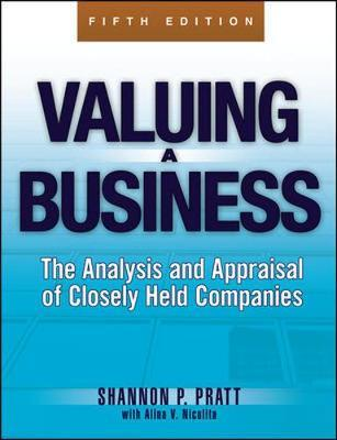Valuing a Business by Shannon P Pratt image