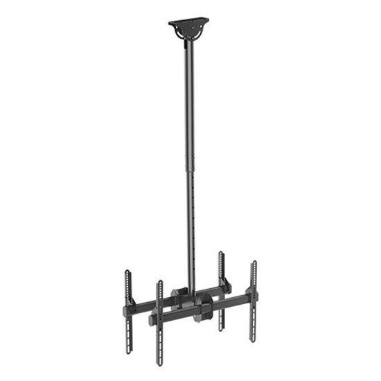 BRATECK: 37'-75' Dual ceiling mountbracket for TV & commercial signageMAX weight 90Kgs (2x45kgs).MAX VESA 600x400.
