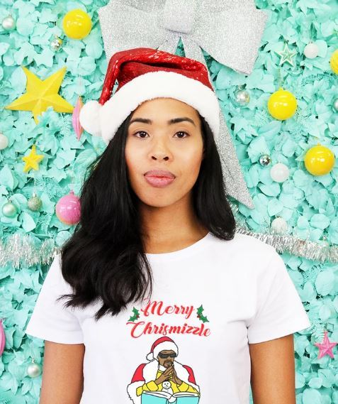 Grey Lines: Merry Chrismizzle Women's Tee - 12