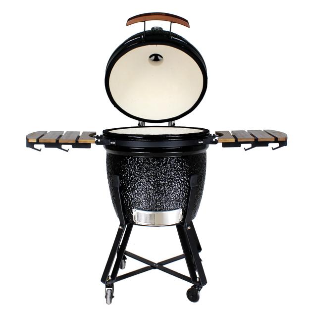 "Gorilla: Kamado Ceramic Grill BBQ (Black) | 21"""
