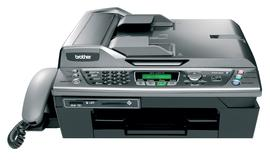 Brother MFC640CW Multi-function Printer Scanner Copier Fax 20ppm Black 15ppm Colour 1200x6000 16MB A4 USB 2 Ethernet image