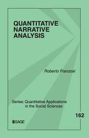 Quantitative Narrative Analysis by Roberto P. Franzosi